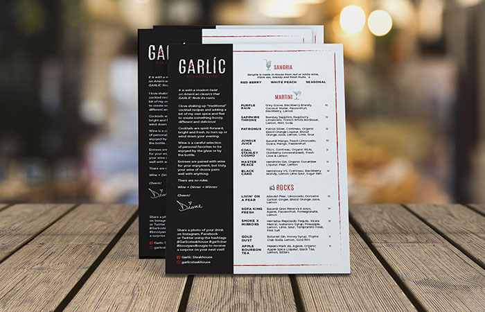 Garlic Menu Front Page Category Item